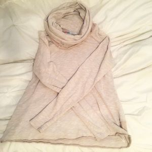 Tan Beach Cowl Neck